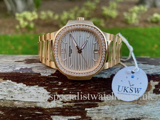 PATEK PHILIPPE NAUTILUS 7118/1200R – 18CT ROSE GOLD – DIAMOND BEZEL