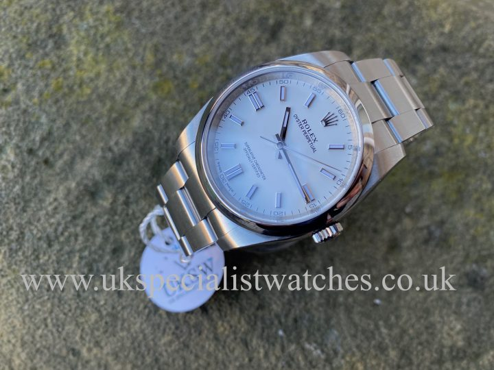 ROLEX OYSTER PERPETUAL – WHITE DIAL – 36MM – STEEL – 116000