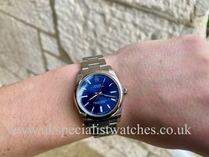 ROLEX OYSTER PERPETUAL 34MM BLUE - 124200 NEW 2020