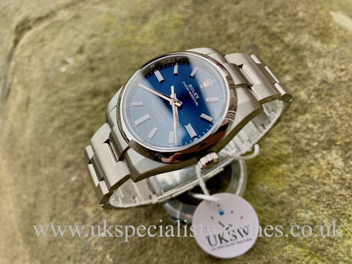ROLEX OYSTER PERPETUAL 34MM BLUE - 124200 - NEW 2020