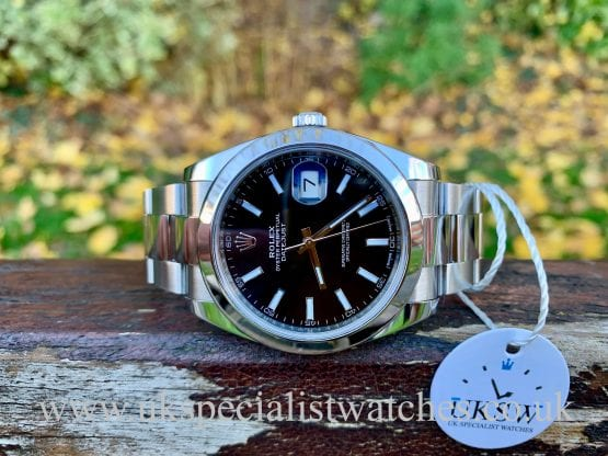 ROLEX DATEJUST 41- STAINLESS STEEL  – BLACK DIAL – 126300