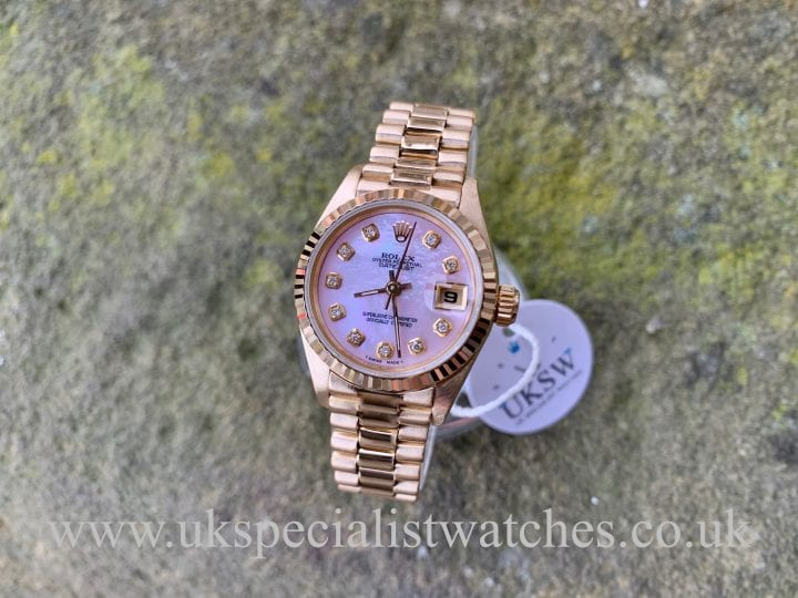 ROLEX DATEJUST 69178 - 18ct YELLOW GOLD - PINK MOP DIAL