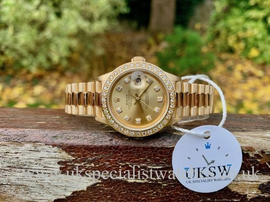 ROLEX DATEJUST 79178 - 18ct YELLOW GOLD - DIAMOND SET