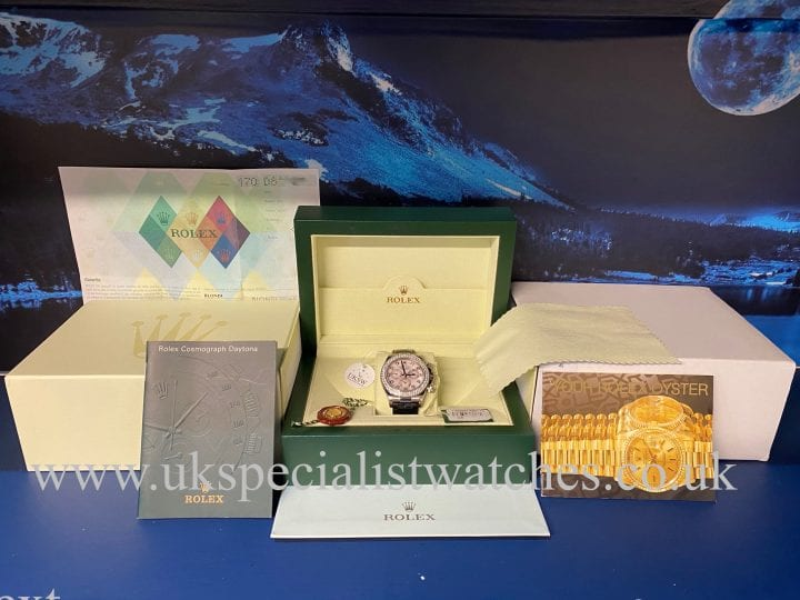 ROLEX DAYTONA 18CT WHITE GOLD – 116589 – FACTORY DIAMOND SET