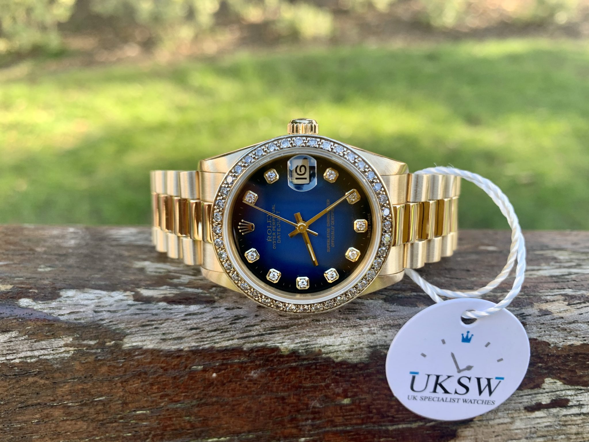 ROLEX DATE JUST PRESIDENT GOLD MID SIZE 31mm  - 68278