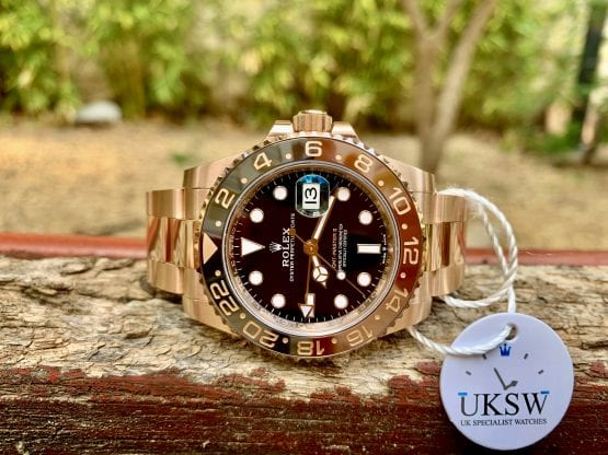 ROLEX GMT-MASTER II – ROSE GOLD – ROOTBEER – 126715CHNR – NEW – UNUSED 2021