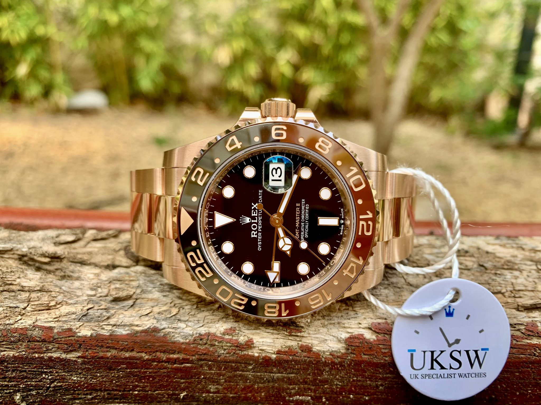 ROLEX GMT-MASTER II – ROSE GOLD - ROOTBEER – 126715CHNR - NEW - UNUSED 2021