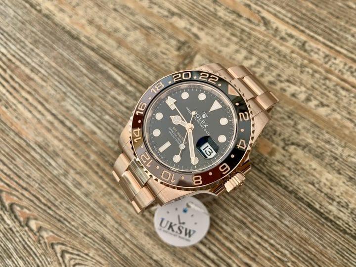 ROLEX GMT-MASTER II – ROSE GOLD - ROOTBEER – 126715CHNR - UNWORN 2021
