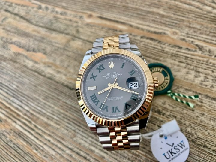 ROLEX DATEJUST II STEEL – 41MM – WIMBLEDON DIAL – 126333 – NEW / UNUSED