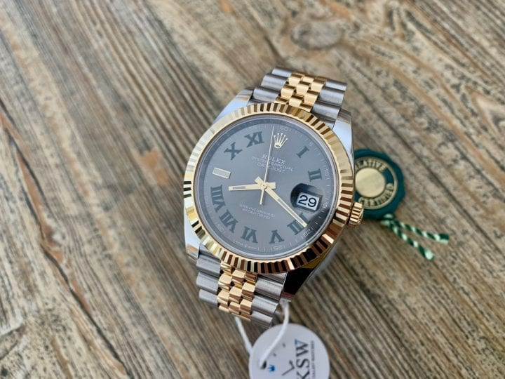ROLEX DATEJUST II SS-GOLD – 41MM – WIMBLEDON DIAL – 126333 – NEW / UNUSED