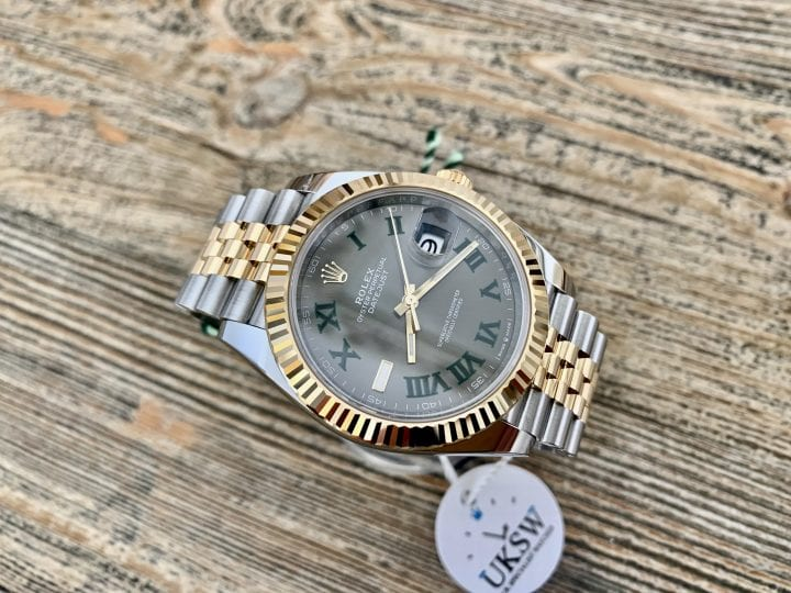 ROLEX DATEJUST II STEEL & GOLD – 41MM – WIMBLEDON DIAL – 126333 – NEW / UNUSED