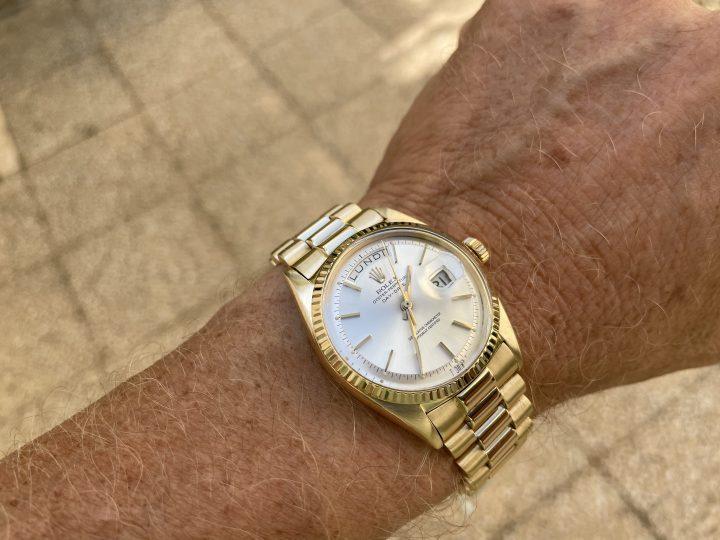 ROLEX DAY DATE - 18CT GOLD - PIE PAN - 1803 - VINTAGE 1966