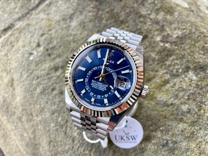 ROLEX SKY-DWELLER JUBILEE BRACELET - STAINLESS STEEL – BLUE DIAL – 326934 - UNUSED